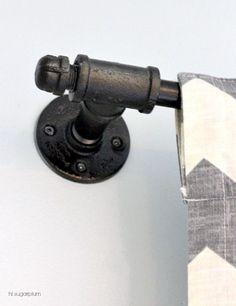 Hi Sugarplum | Galvanized Pipe Curtain Rod (not so industrial looking)