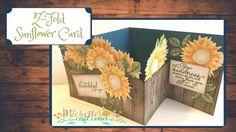 Z-fold Sunflower Card - YouTube