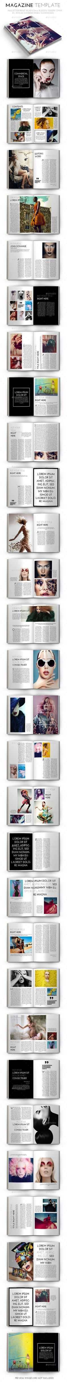 Magazine Template by crew55design  In-design CS6   Idml CS5 or lower Beautiful IDMagazine template which you can use for anycategory of magazines. Beautiful clean