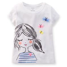 Butterfly Girl Tee   Carter's