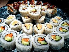 Simple Vegan sushi Recipe with Three different variations.  Shiitake mushroom, Spice roll, and veggie.