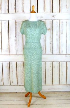 20% off fall sale 40s/50s vintage sea foam by GreenCanyonTradingCo