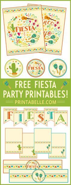 Free FIESTA Printables for #CincoDeMayo