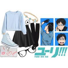 Gender Bend Yuri Katsuki-Yuri On Ice - Cosplays that slays my existence Anime Inspired Outfits, Character Inspired Outfits, Themed Outfits, Teen Fashion Outfits, Outfits For Teens, Cool Outfits, Casual Outfits, Fashion Dresses, Casual Cosplay