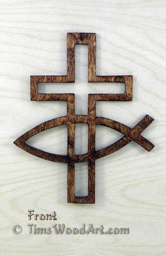 Fishers of Men Christian Cross, for Wall Hanging or Ornament, Item S5-8