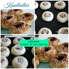 Kanelbullar som inte kavlas Chicken Nuggets, Lchf, Doughnut, Food And Drink, Cooking Recipes, Desserts, Tips, Cooker Recipes, God