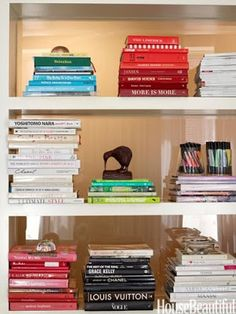 Harmony reigns with colour coordinated books