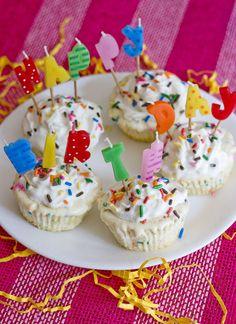 Funfetti Ice Cream Cupcakes