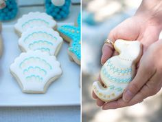 Custom beach-themed cookies are adorable snacks almost too cute to eat!