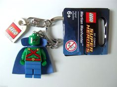 Lego DC Universe Martian Manhunter Minifigure Keychain New with Tags!!  853456 #LEGO