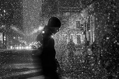 Shutter Drag & Off Camera Flash Create Magical Wintry Street Portraits by Satoki Nagata