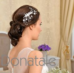 BIANCA   Bridal Wedding Hair Vine Wedding by DonataleFlowers4You