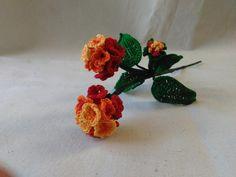 Citrus Blend Lantana Camara Crochet Flower - Crochet creation by Flawless Crochet Flowers