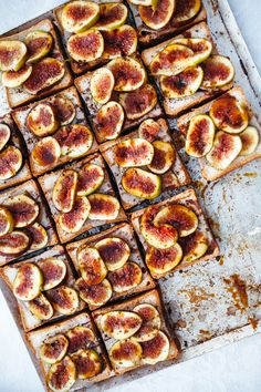 Tel Aviv, Israel. Fig, Silan Tahini and Dukkah toasts. Fill yourself up with the delicious delicacies of Tel Aviv. More info on theculturetrip.com
