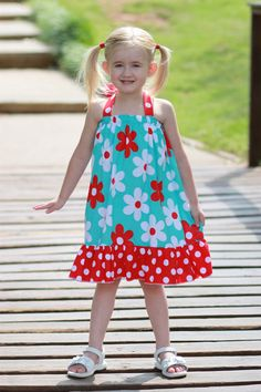 Summertime Fun Dress  Perfect for the 4th of July  by havilahashby, $30.00