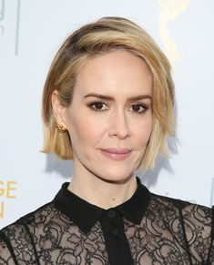 Sarah Paulson's bob looks sophisticated and modern because it's so easygoing. Try letting your roots grow in a little bit to copy her.