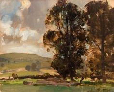 Berkshire Elms  by Edward Brian Seago