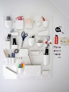 DIY Craft Room Ideas and Craft Room Organization Projects - DIY Wall Organizer for Crafts - Cool Ideas for Do It Yourself Craft Storage - fabric, paper, pens, creative tools, crafts supplies and sewing notions | http://diyjoy.com/craft-room-organization
