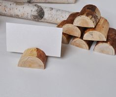 12 Birch Wood Place Holders for Wedding Decor by WoodsOfNarnia, $15.00