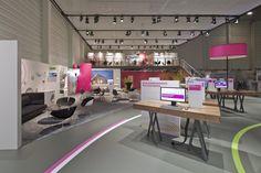 Deutsche Telekom stand by Hartmann Vonsiebenthal at E-World 2014, Essen – Germany »  Retail Design Blog