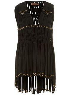 Black fringe waistcoat