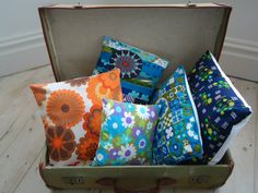upcycled vintage fabric cushions by modflowers