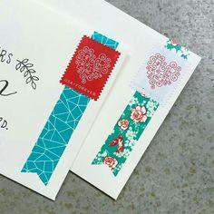 Snail Mail ❤ Envelopes with washi tape Mail Art Envelopes, Addressing Envelopes, Envelope Art, Envelope Design, Envelope Lettering, Planner 2018, Art Postal, Washi Tape Cards, Pen Pal Letters