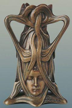 Nouveau Art -                                                              Art Nouveau Trihedral vase – Karel Babka. Museum of Decorative Arts In Prague