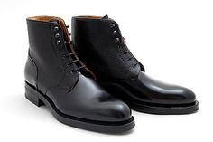 Rider Boot Company, Richmond boot (Black Shell Cordovan+Black Scotch Grain Calf)