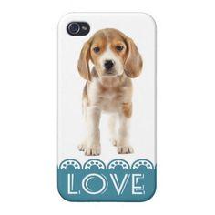 Love Beagle Puppy Dog iPhone 4 Retro Cover Case   http://www.zazzle.com/love_beagle_puppy_dog_iphone_4_retro_cover_case-256690342024607949
