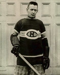 Legendary goaltender Georges Vezina played seven seasons in the National Hockey Association and nine in the National Hockey League, all with the Montreal Canadiens, from The Vezina Trophy is awarded each year to the NHL's top goalie. Hockey Baby, Hockey Goalie, Hockey Teams, Montreal Canadiens, Good Old Times, National Hockey League, Nhl, Seasons, Baseball