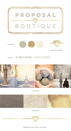 Proposal Boutique / Brand board / Design Inspiration / Branded by Love-Inspired