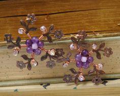 Blossom Copper Earrings by FaithsLovelyTrinkets on Etsy