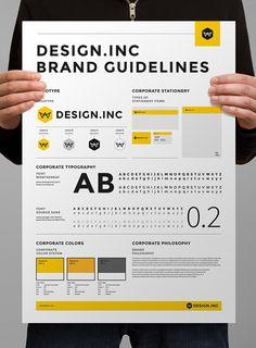 ブランドマニュアルとデザインアイデンティティのポスター