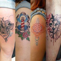 tattoo collage  my work