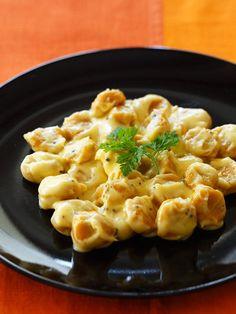 Recipe : かぼちゃのニョッキ チーズクリームソース