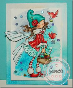 On The Wings Of Love ~ Sugar Nellie Fairy by Jeanette Comerford Wink Of Stella, Christmas Characters, Marianne Design, Christmas Paintings, Illustrations, Fairy Dust, Doodle Drawings, Digi Stamps, Art Journal Pages