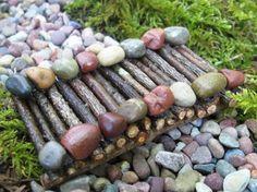 Miniature Wooden Bridge for Fairy Garden by WoodlandWarren on Etsy, $12.00