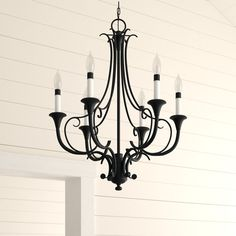 Maiwenn 6-Light Chandelier Chandelier For Sale, 5 Light Chandelier, Furniture Making, Home Furniture, Candelabra Bulbs, Traditional Furniture, Birch Lane, How To Distress Wood, Home Lighting