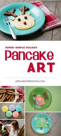 Simple Holiday Traditions: WOW Your Kids With This Christmas Breakfast Idea *Love how simple these pancake art designs are! Going to try this with the kiddos.