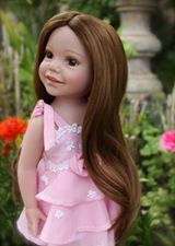 "More cute dolls from Harmony Club Dolls - 'To purchase this 18"" vinyl body doll, visit www.harmonyclubdolls.com'"