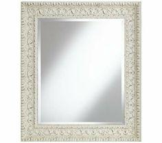"Mylos Antique White 27 3/4"" x 31 3/4"" Wall Mirror | 55DowningStreet.com"