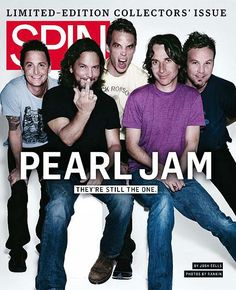 Pearl Jam featured in Spin magazine.