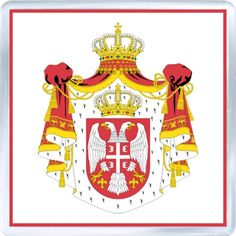 $3.29 - Acrylic Fridge Magnet: Serbia. Coat of Arms of Serbia