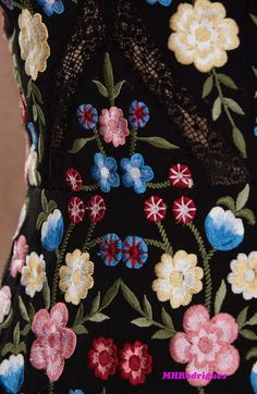 Needle & Thread Spring 2017 - source: needleandthread.com Embroidered Dresses, Needle And Thread, Collections, Spring, Design, Mexican Embroidery, Embroidery Dress