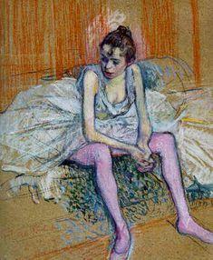 Danseuse assise de Toulouse-Lautrec