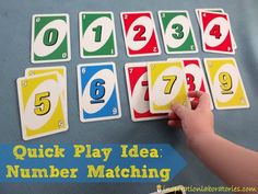 Using playing cards for matching games is a great quick play idea. Two ideas for matching games are shared in this post.