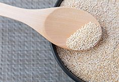 Quinoa The South American grain quinoa is well-known to vegans and vegetarians because it's a complete protein and filled with antioxidants, vitamins and minerals, such as B2, magnesium, copper, iron and phosphorus. Quinoa is full of fiber, gluten-free and easy to use. Learn more at http://www.mypurium.com/losepoundsandmakemoney