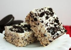 Cookies and Cream Rice Crispie Treats