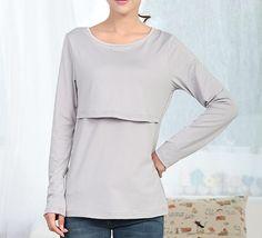 Long Sleeve Nursing Breastfeeding Top - Restock soon Maternity Wear Australia - Affordable Maternity Clothes